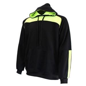 Hoodie: Black & Lime Green