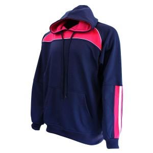 Hoodie: Navy & Pink
