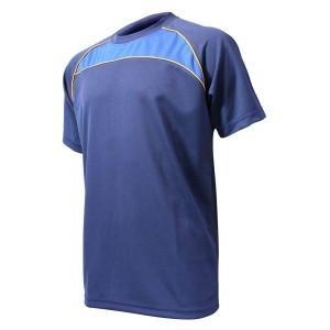 Training T-Shirt: Navy, Royal Blue & Gold Piping
