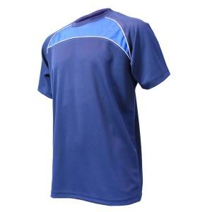 Training T-Shirt: Navy, Royal Blue & White Piping