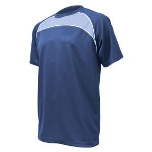 Training T-Shirt: Navy, Sky Blue & White Piping