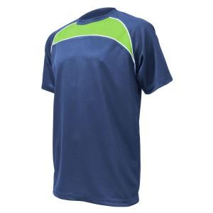 Training T-Shirt: Navy, Emerald Green & White