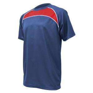 Training T-Shirt: Navy, Red & White Piping
